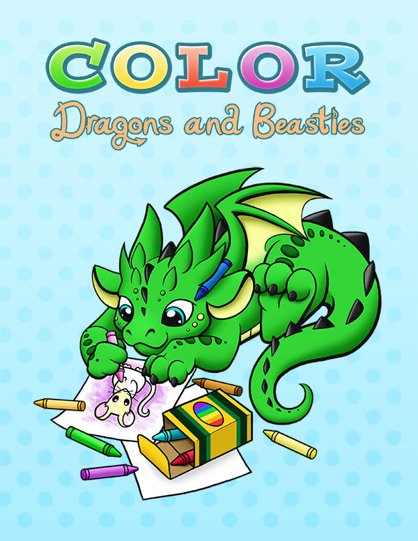 Dragons and Beasties Coloring Book by DragonsAndBeasties