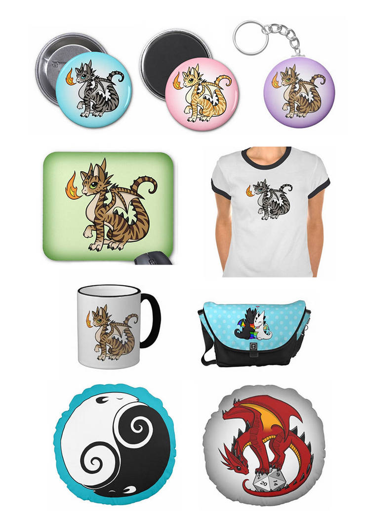 Cat Dragons on Zazzle Stuff by DragonsAndBeasties