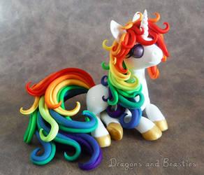 Rainbow Unicorn - Charity Auction by DragonsAndBeasties