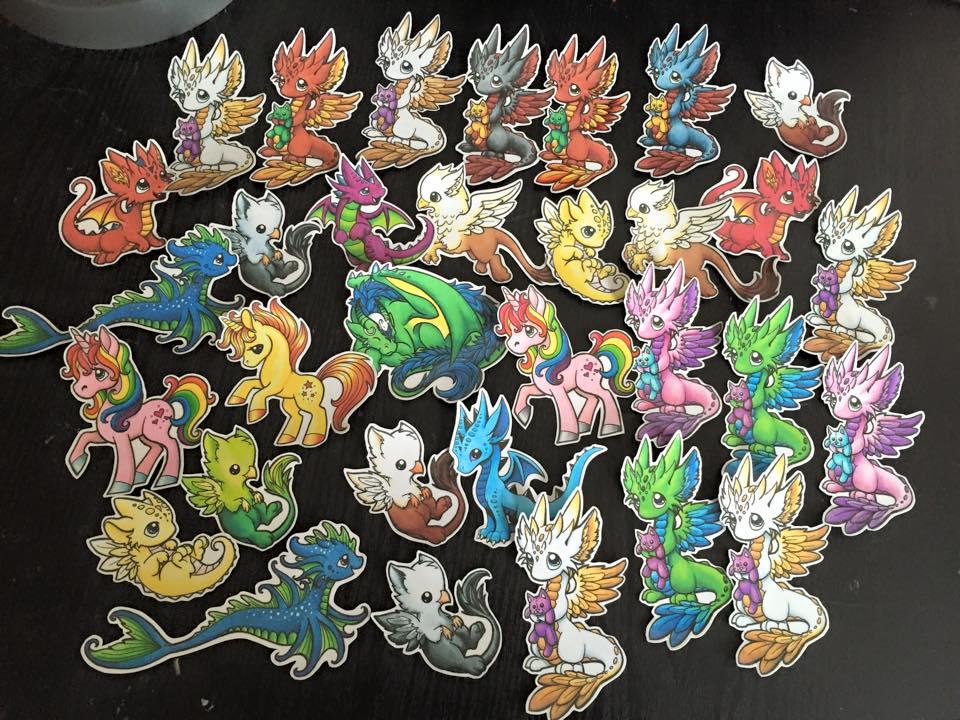 Dragons and Beasties Stickers by DragonsAndBeasties