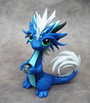Blue Oriental Dragon by DragonsAndBeasties
