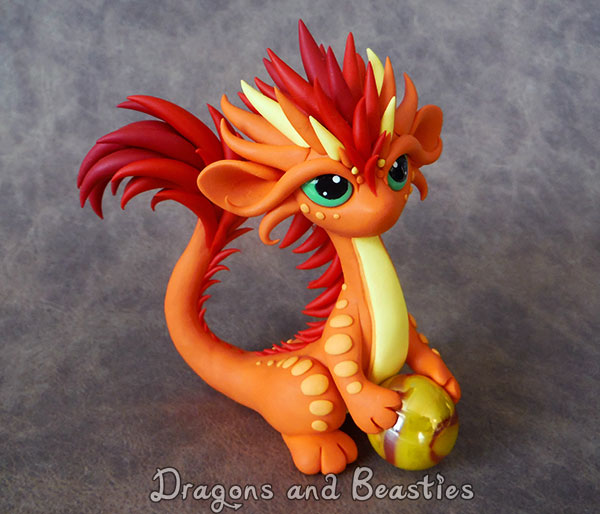 Firey Little Oriental Dragon by DragonsAndBeasties