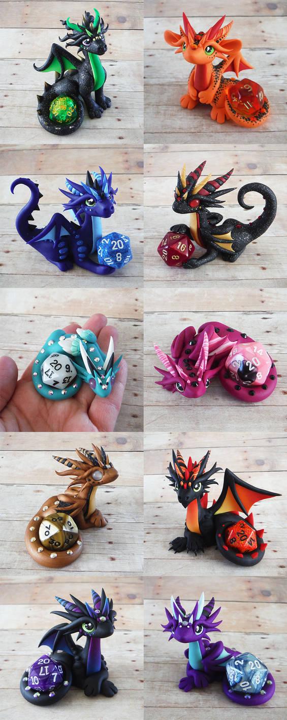 Dice Dragon Sale March 27th by DragonsAndBeasties