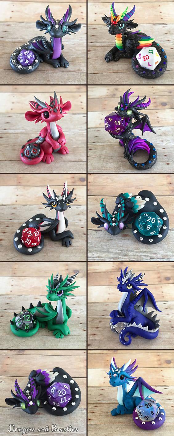 Dice Dragon Sale April 10th by DragonsAndBeasties