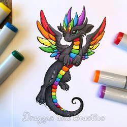 Copic Rainbow Dragon