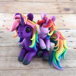 Mama and Baby Rainbow Unicorns