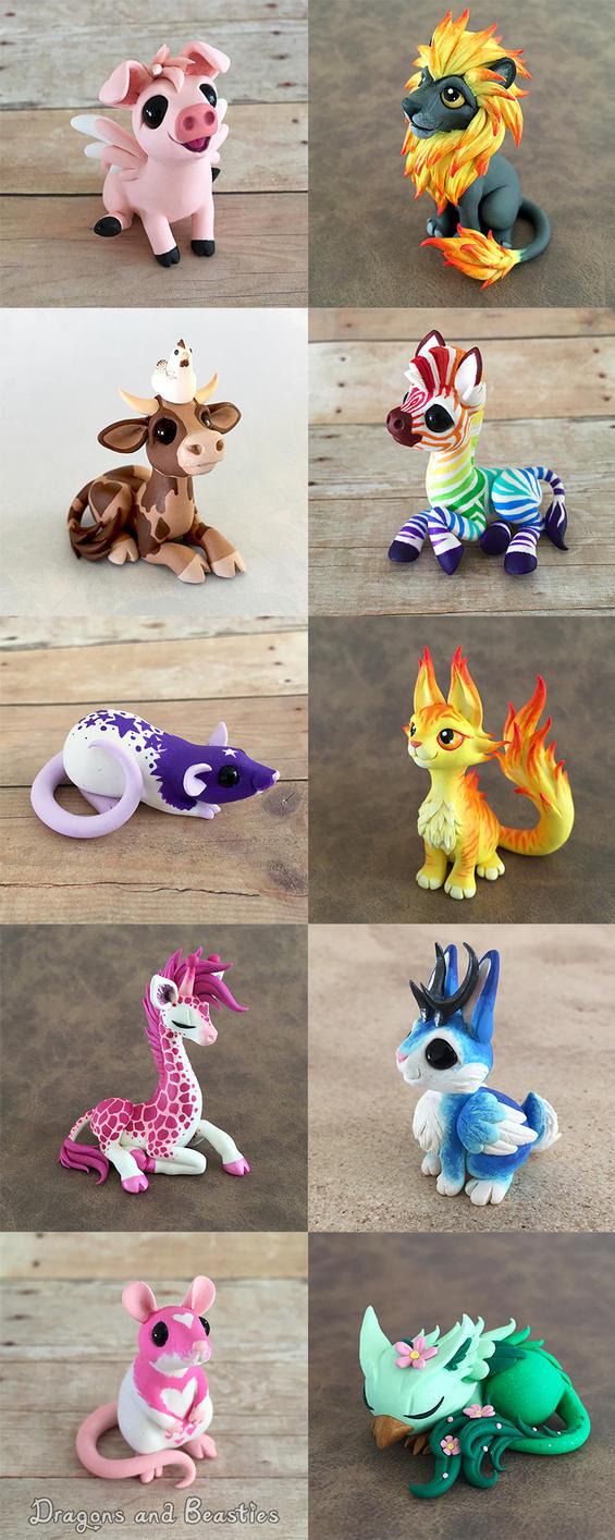 Beasties Sale May 29th by DragonsAndBeasties
