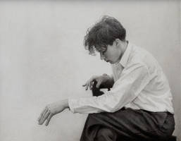 Pencil Drawing of Young Glenn Gould