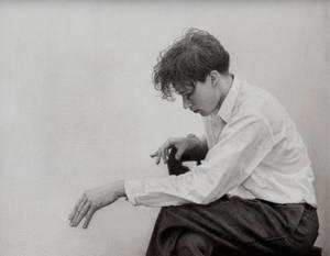 Pencil Drawing of Young Glenn Gould by yuzu1009