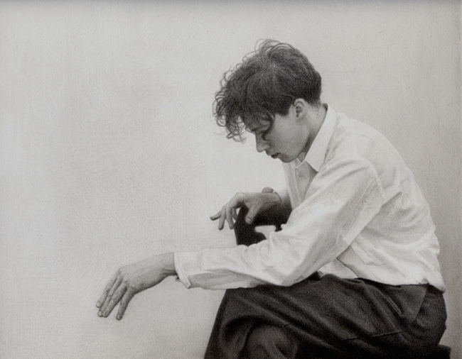 Pencil Drawing of Young Glenn Gould by yuzu1009