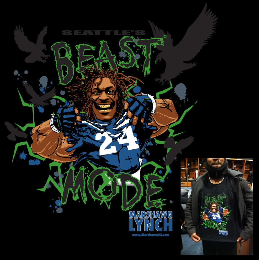 Marshawn Lynch Beast Mode by Michael-Burleigh