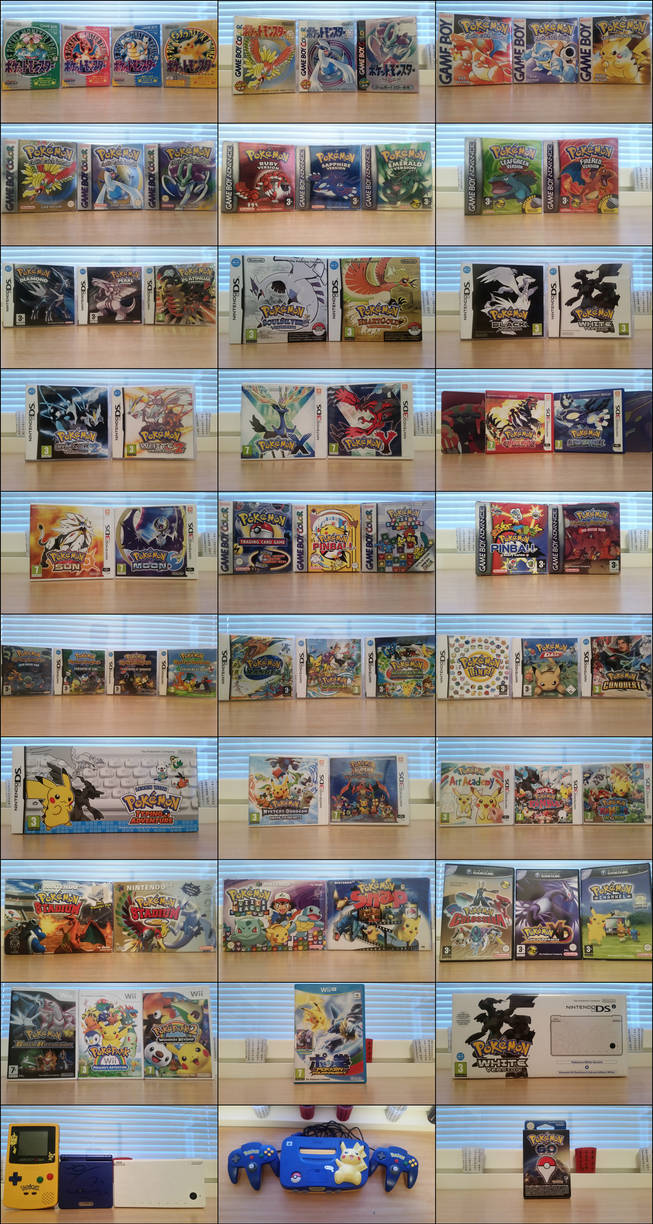 My Pokemon game collection
