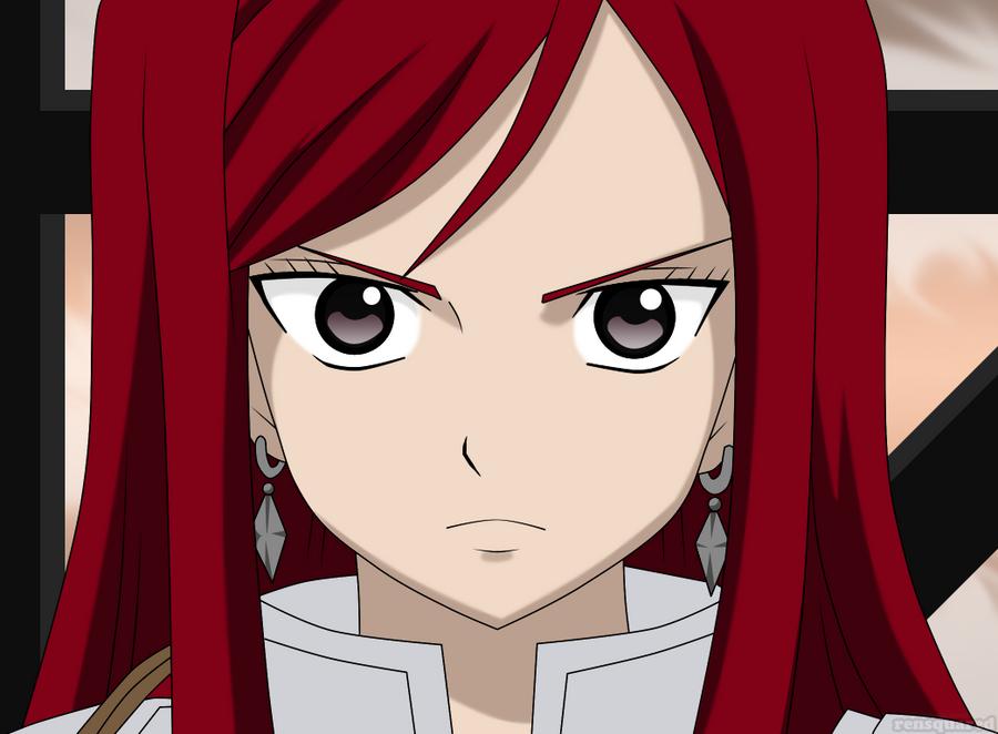face Erza scarlet
