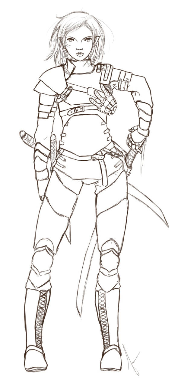 Jayda in Armor