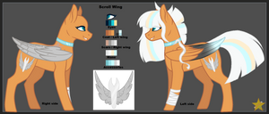 [Ref Sheet] Scroll Wing by StarsOfTheBlueSpirit