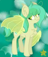 [Contest Prize] I'm a cute batpony by StarsOfTheBlueSpirit