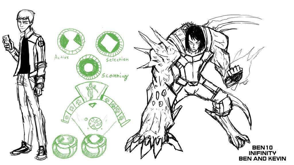 Ben  10 Infinity sketches 3 by IHComicsHQ