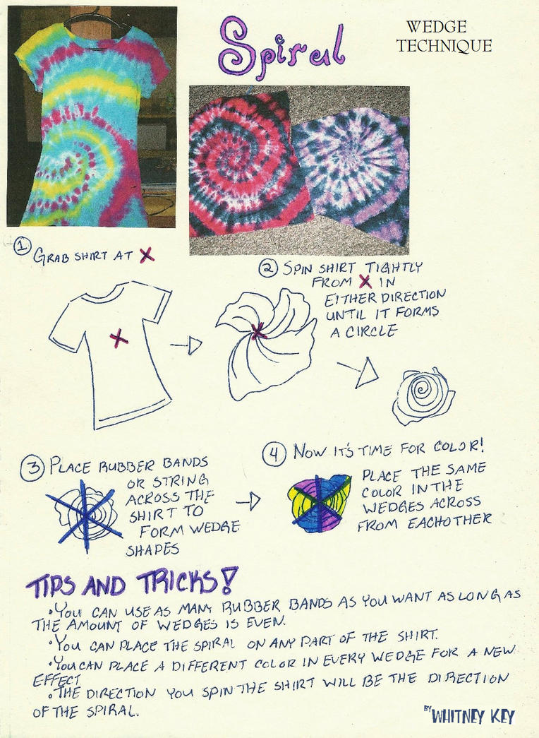 Tie Dye Shirt Designs Instructions | How To Make Tie Dye Shirts Instructions