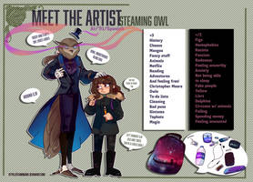 Meet the artist by SteamingOwl