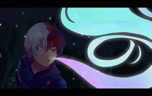 Shouto Todoroki by SteamingOwl