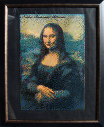 Mona Lisa in Beads by Brainader