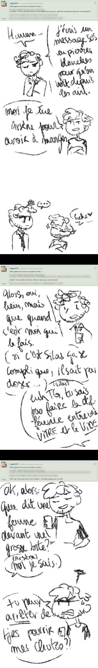 WCOMIC | Ask my OC - REP #3 B by Clo-Asis