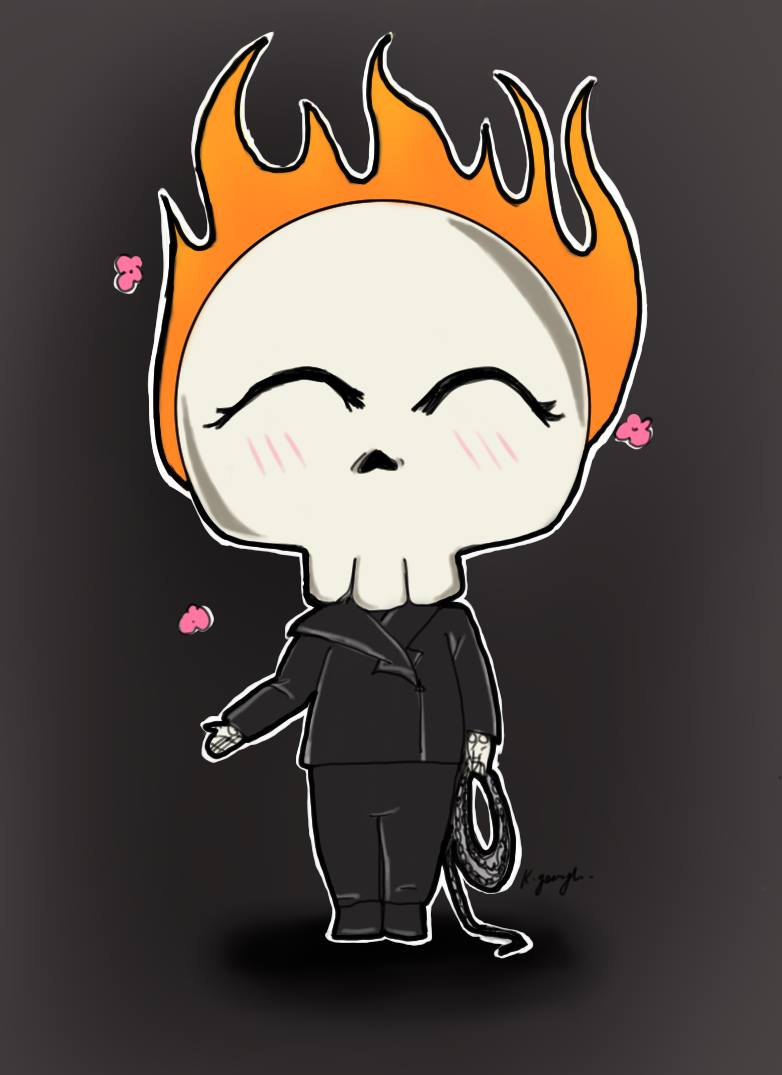 Chibi Ghost Rider ^^ by autumnflame95 on DeviantArt