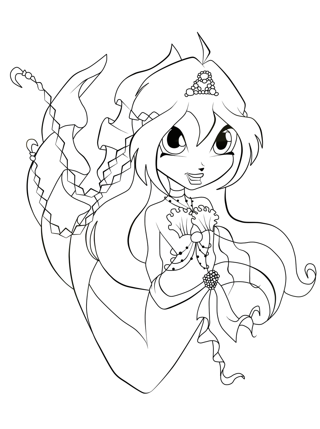 chibi pretty mermaid coloring pages - photo#5