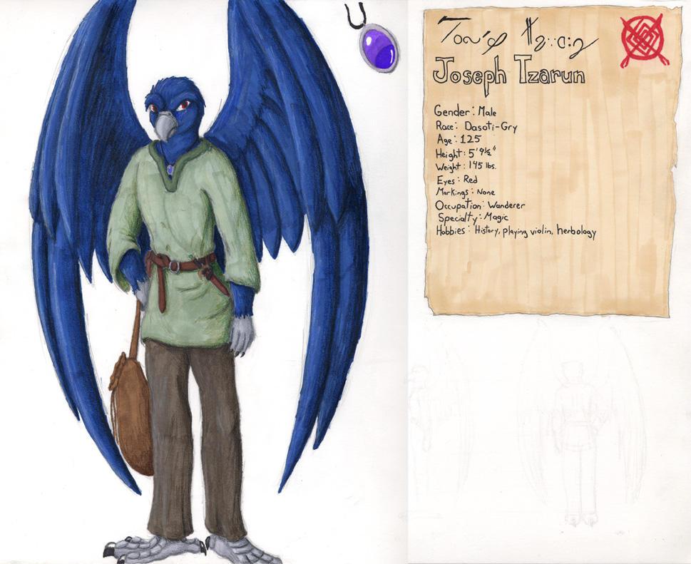 Joseph: Character Sheet by Mewtwofan