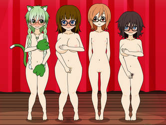 Femme Group nude by qringstaff