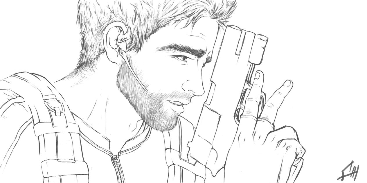 Chris Redfield Sketch by GuyLeRoy
