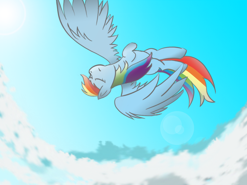 We're eight miles high, about to fall. by Rainb0wDashie