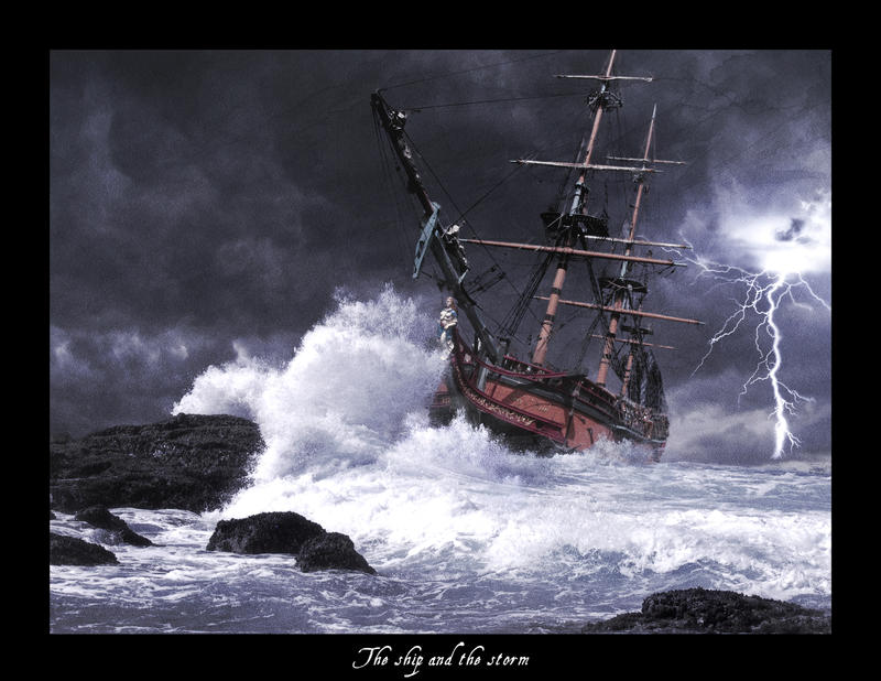 the ship and the storm print by levydesign on deviantart