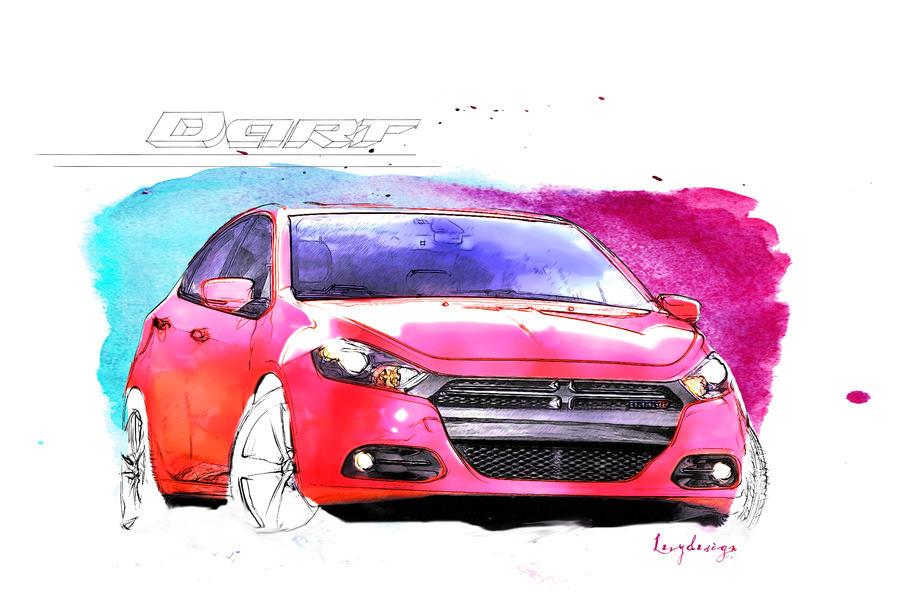 Dodge Dart Sketch by levydesign