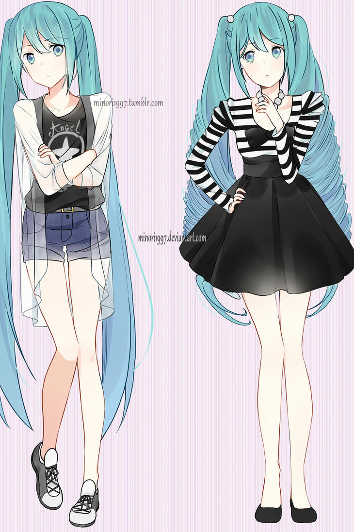 Hatsune Miku Different Fashion Styles By Sunnypoppy On Deviantart