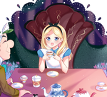 Alice in Wonderland Tea Time by Sunnypoppy