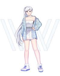 RWBY Weiss street fashion by Sunnypoppy