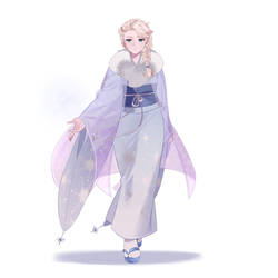 Elsa in kimono
