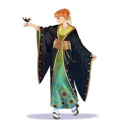 Anna in kimono