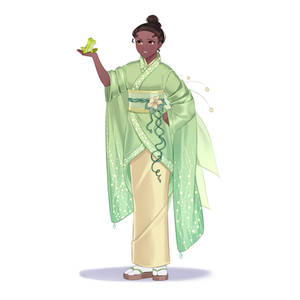 Tiana in kimono