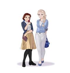 Disney girls hanging out