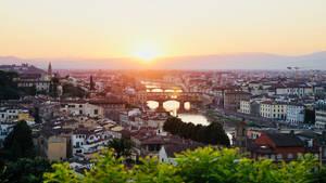 tramonto su Firenze