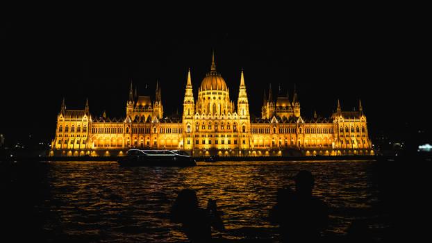 hungarian parliament building at night iv