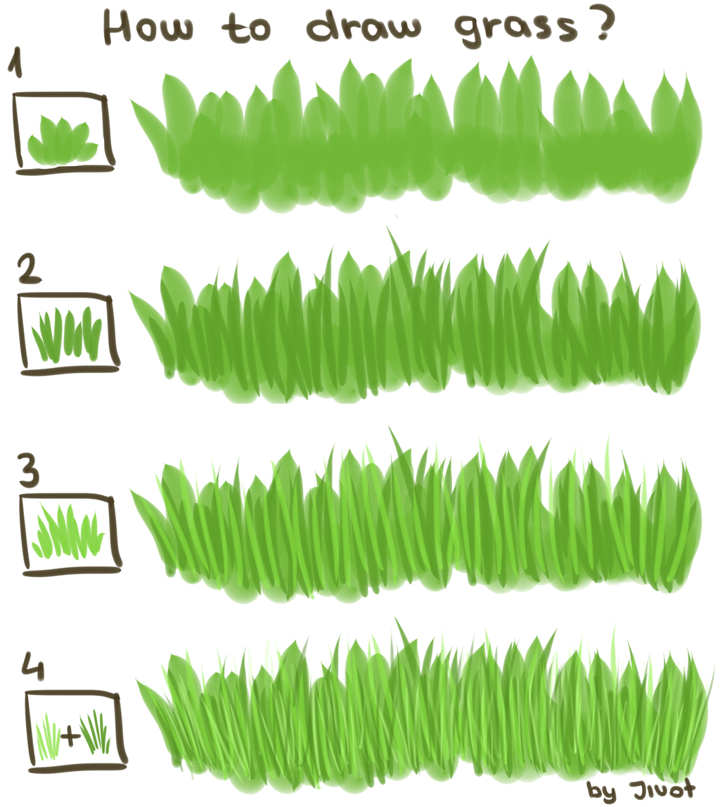 How to draw grass (Tutorial) by Jivot1 on DeviantArt
