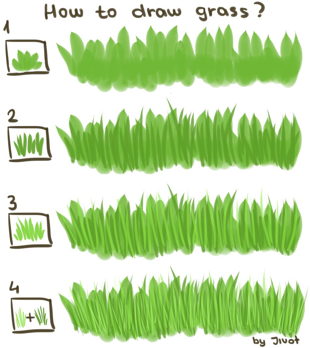 How to draw grass (Tutorial) by Jivot1