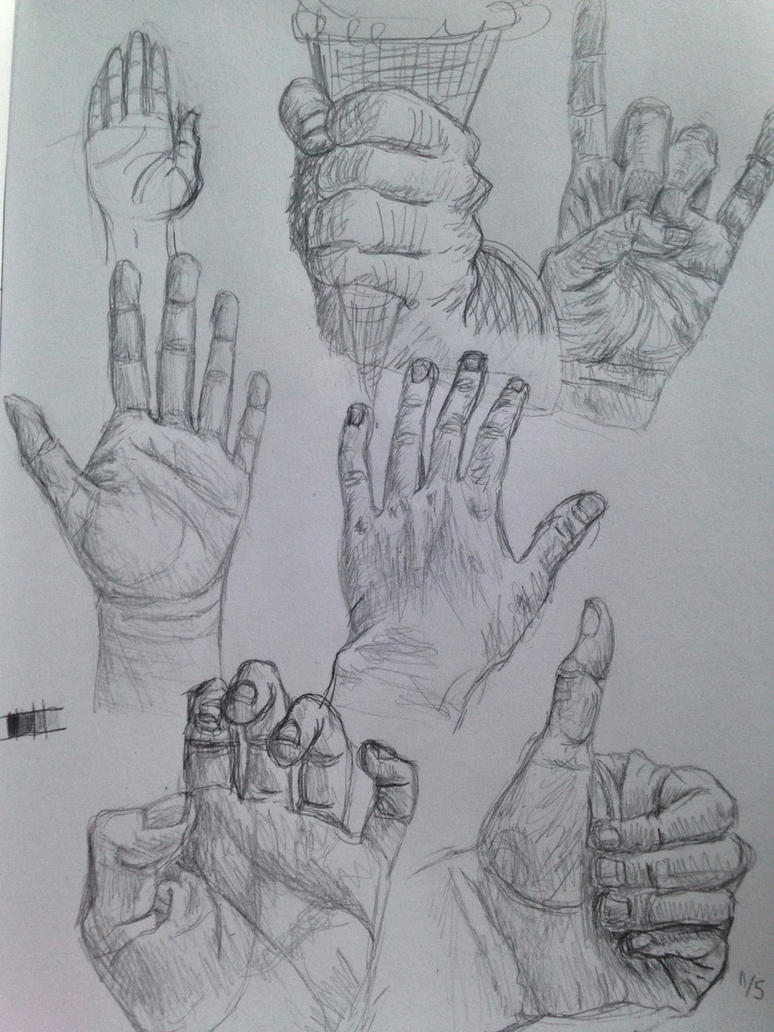 Hand sketches (testing the mobile app) by PandaKong