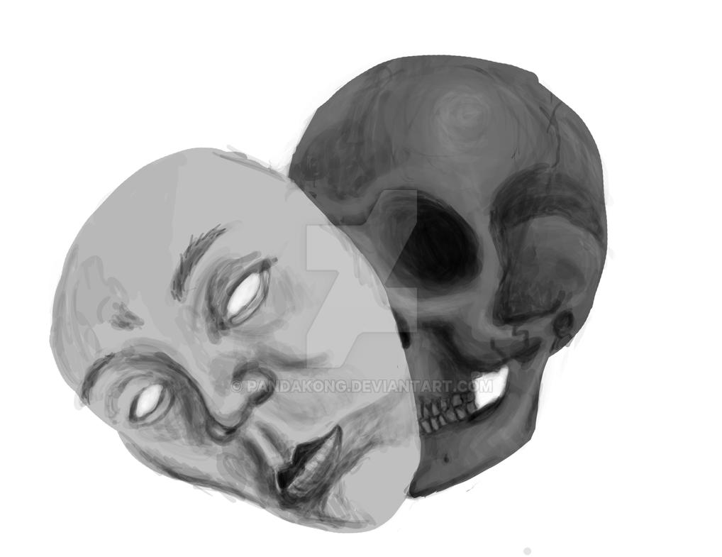 Drawlloween #18: Mask by PandaKong