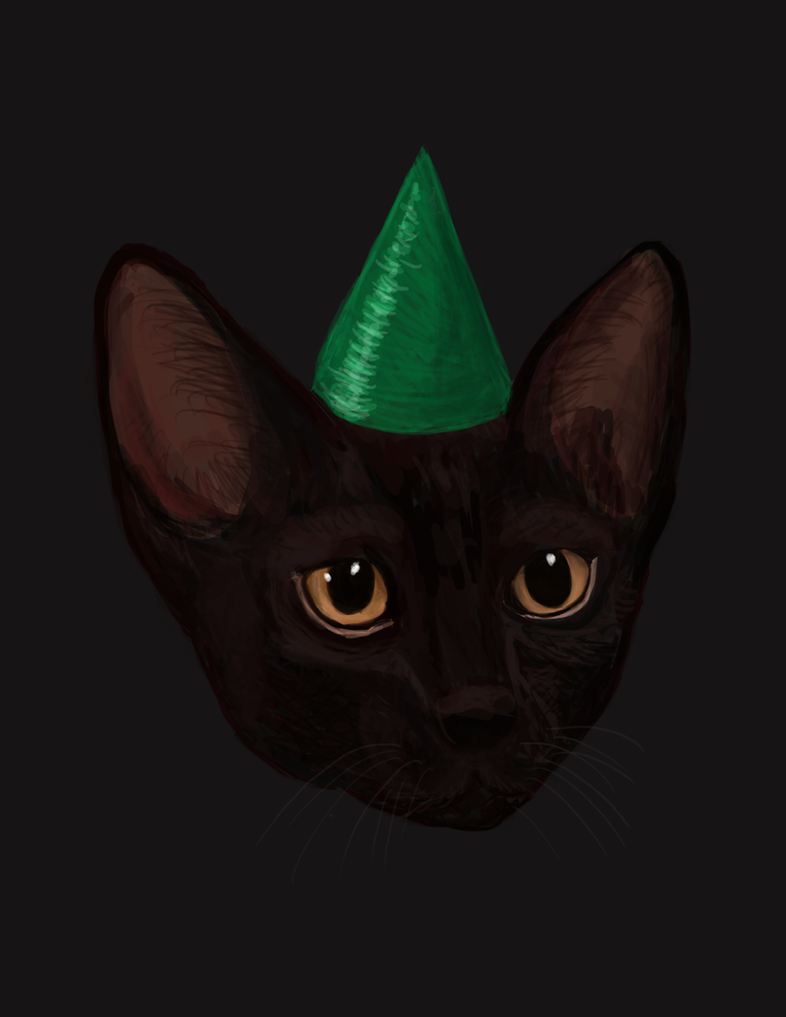 Drawlloween #28: Black Cat by PandaKong