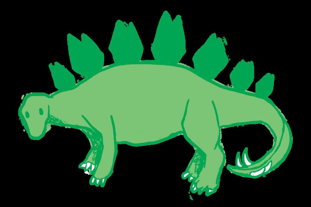 stegosaurus doodle by PandaKong