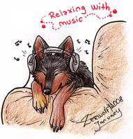 Relaxin' with music by Zerwolf